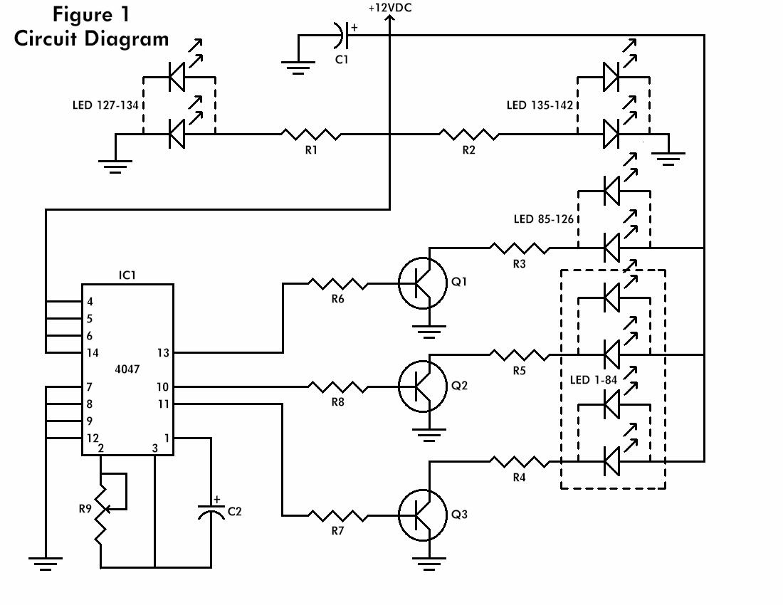 The Flashing Heart Circuit Astable Multivibrator Using Ic 555 Free Electronic